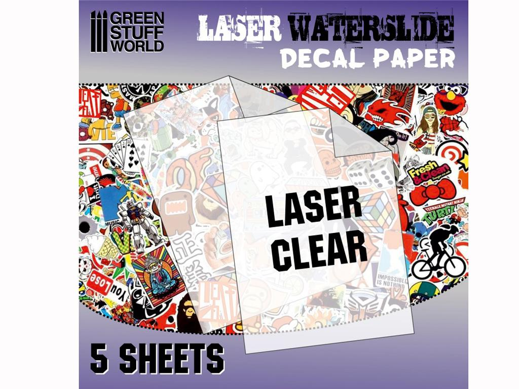 Calcas al agua - Laser Transparente (Vista 1)