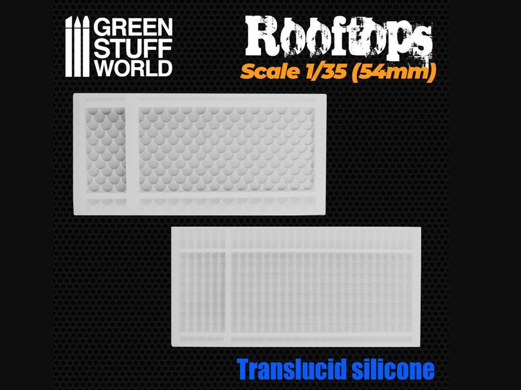 Moldes de Silicona Tejados  (Vista 2)