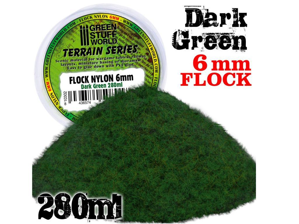 Cesped Electrostatico 6mm - Verde Oscuro - 280 ml (Vista 1)