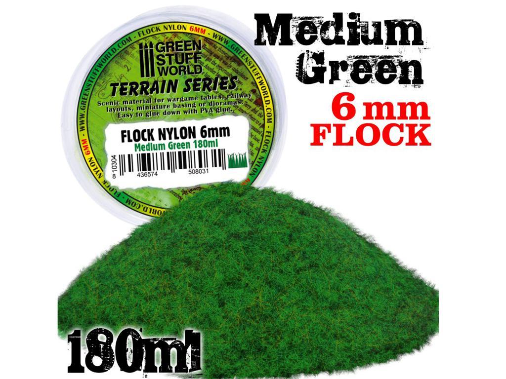 Cesped Electrostatico 6 mm - Verde Medio (Vista 1)