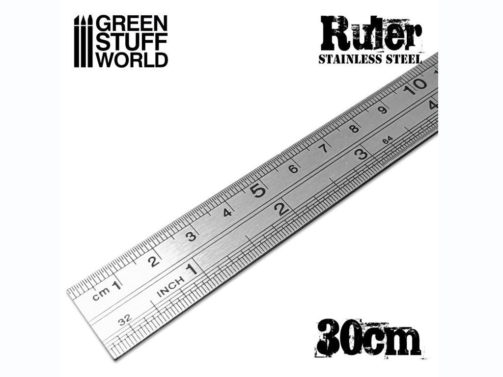 Regla Modelismo Metálica 30 cm (Vista 2)