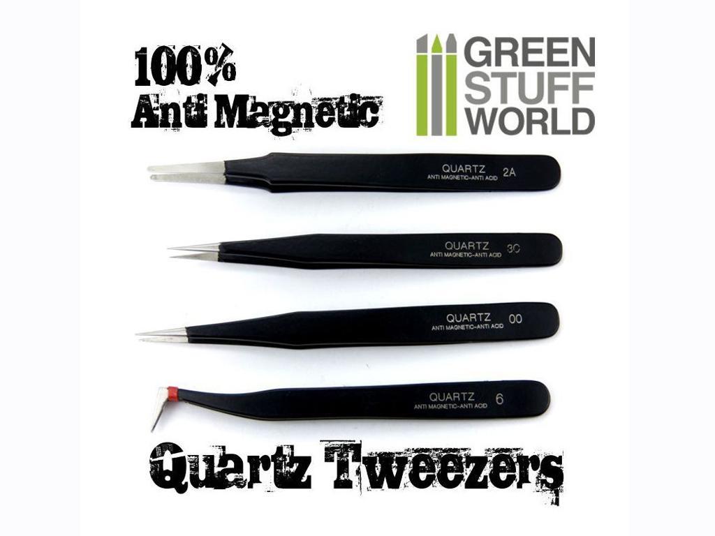 Pinzas Precision QUARTZ 100% Anti-Magnet (Vista 1)