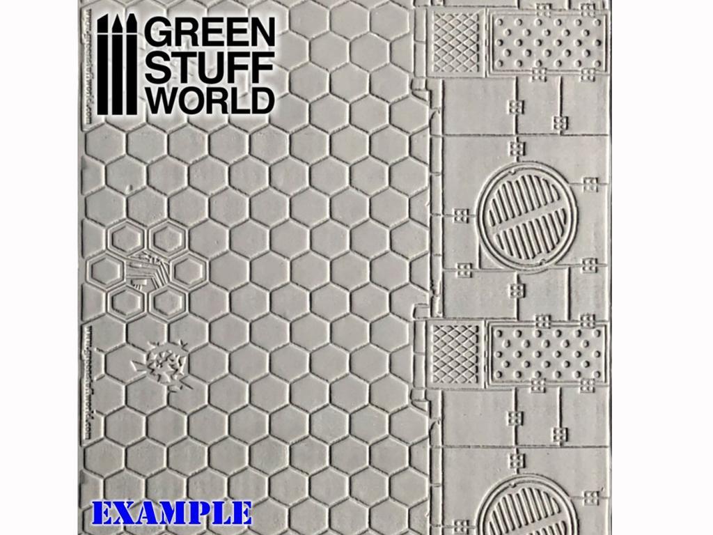 Rodillo Texturizado Hexagonos (Vista 2)