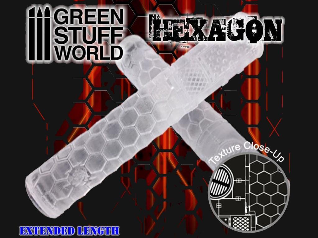 Rodillo Texturizado Hexagonos (Vista 3)