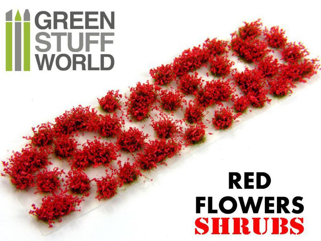 Matas Arbustos Flores Rojas (Vista 2)