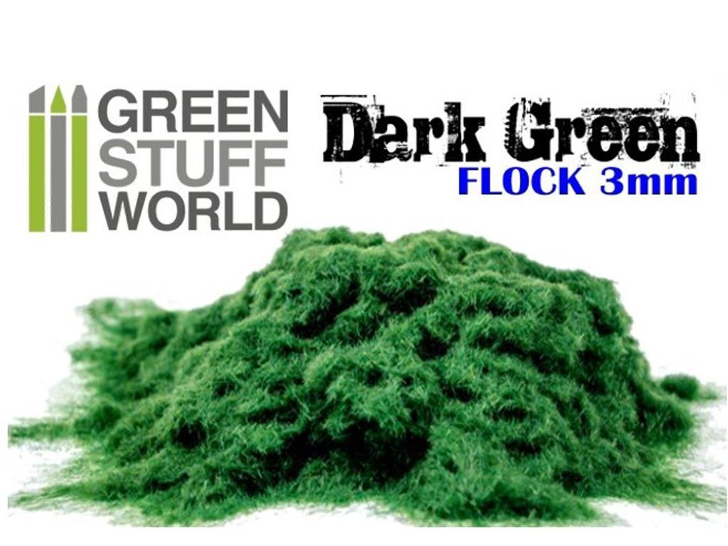 Cesped Fino Electrostatico Verde Oscuro (Vista 2)