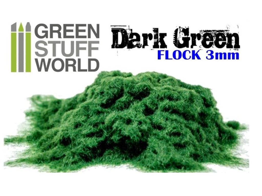 Cesped Fino Electrostatico Verde Oscuro (Vista 1)