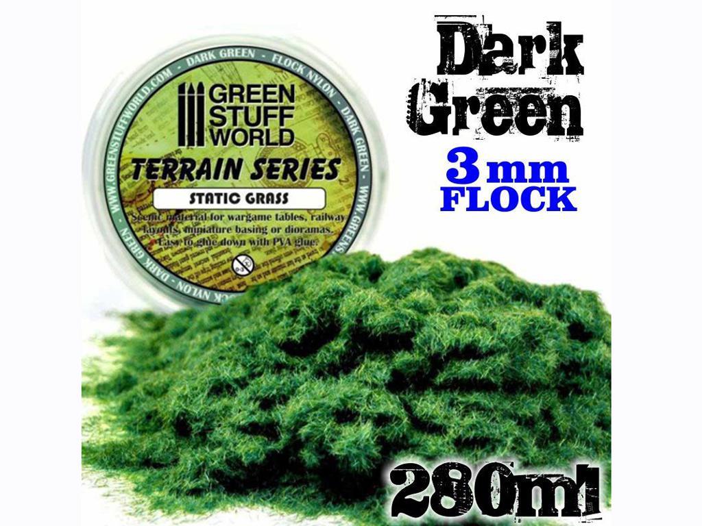 Cesped Fino Electrostatico Verde Oscuro (Vista 3)