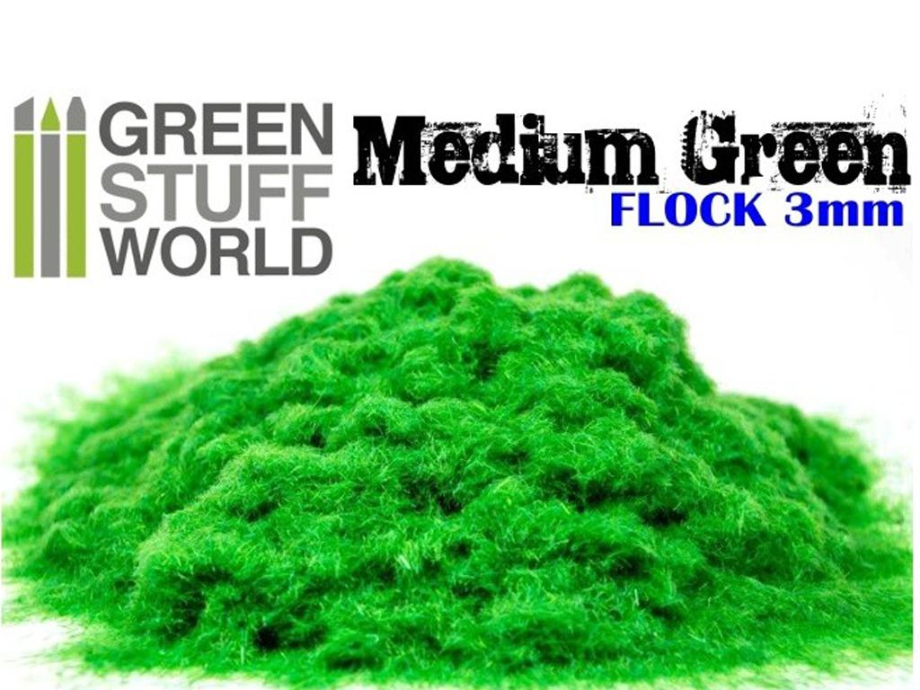 Cesped Fino Electrostatico Verde Medio (Vista 1)