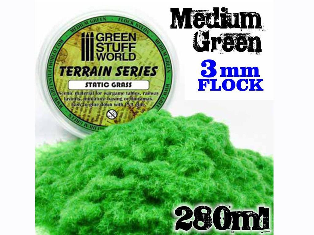 Cesped Fino Electrostatico Verde Medio (Vista 3)