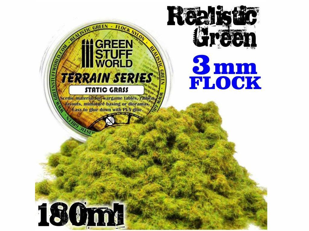 Cesped Fino Electrostatico Verde Realist (Vista 1)