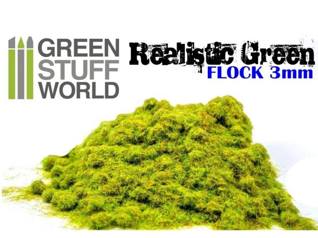 Cesped Fino Electrostatico Verde Realist (Vista 2)