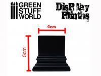 Peana Cuadrada 4 x 4 cm Negra (Vista 6)