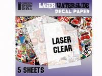 Calcas al agua - Laser Transparente (Vista 2)
