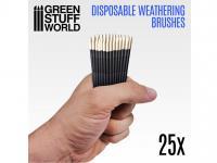 25 Pinceles Weathering Desechables (Vista 3)