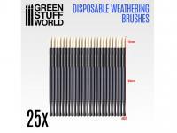 25 Pinceles Weathering Desechables (Vista 4)