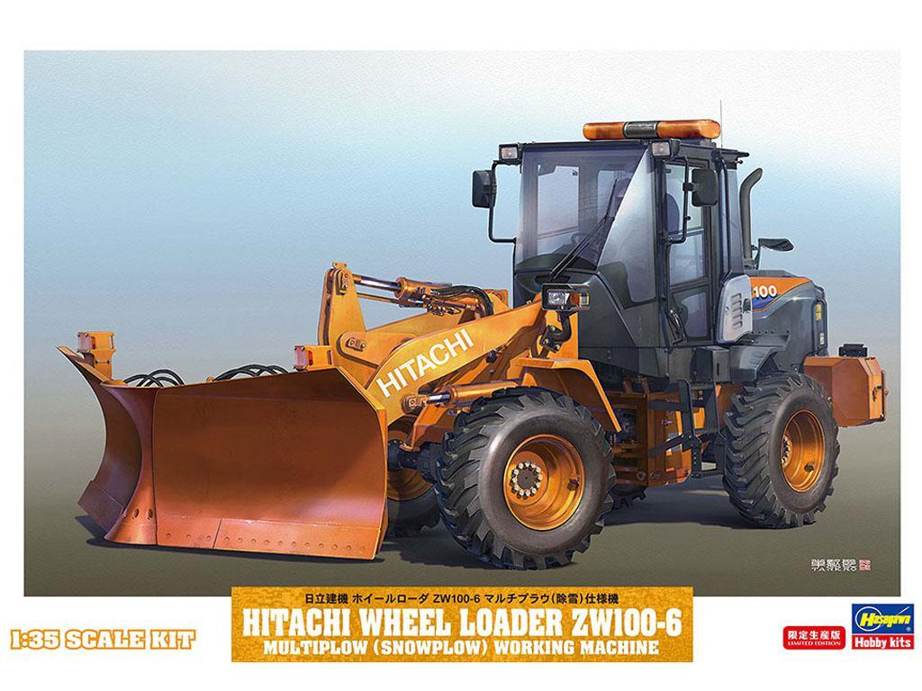Hitachi Radlader ZW-100-6 con Spazzaneve (Vista 1)