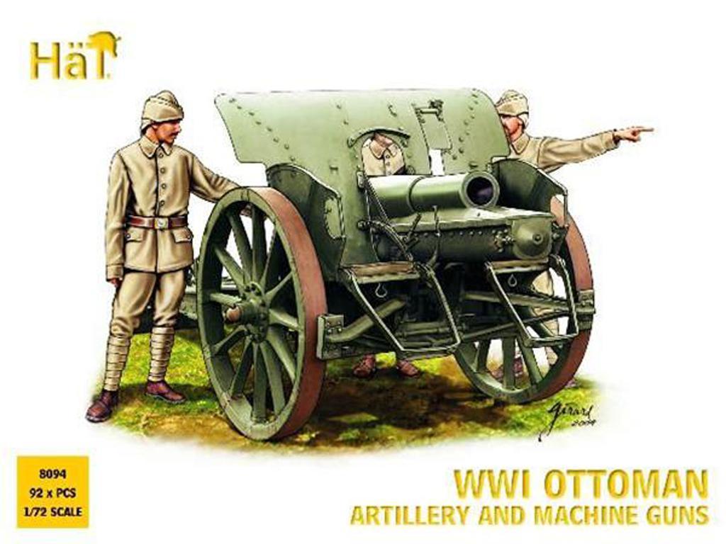 Artilleria y ametralladoras Otomanas 191 (Vista 1)