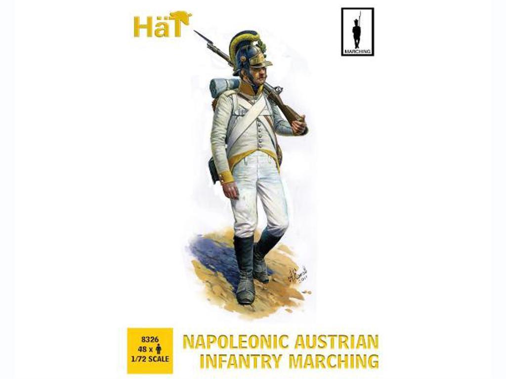 Infantería Austriaca Napoleónica marchando (Vista 1)
