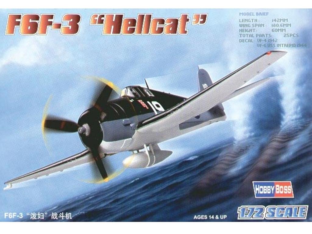 """F6F-3 """"Hellcat""""   (Vista 1)"""