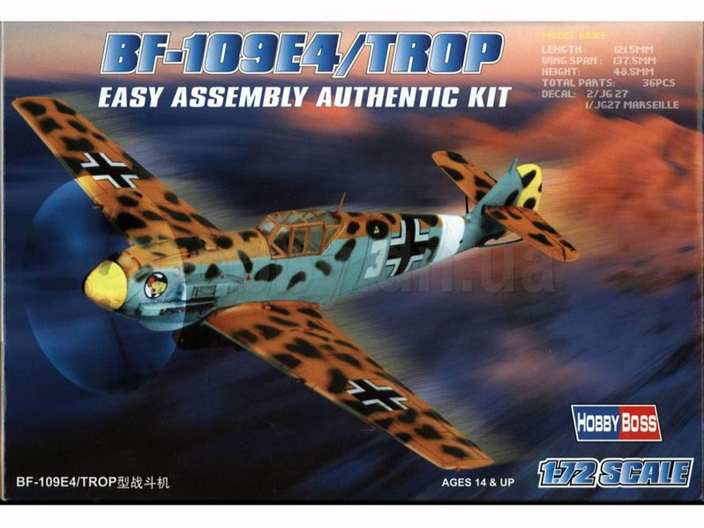 BF-109E4/TROP  (Vista 1)