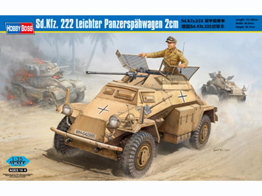 Sd.Kfz. 222 Leichter Panzerspahwagen 2cm  (Vista 1)