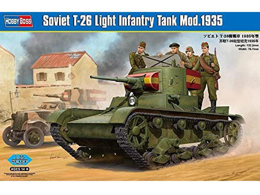 Soviet T-26 Light Infantry Tank Mod.1935  (Vista 1)