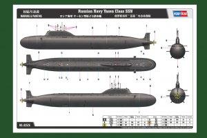 Russian Navy Yasen Class SSN  (Vista 3)
