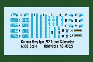 German Navy Type 212 Attack Submarine  (Vista 2)