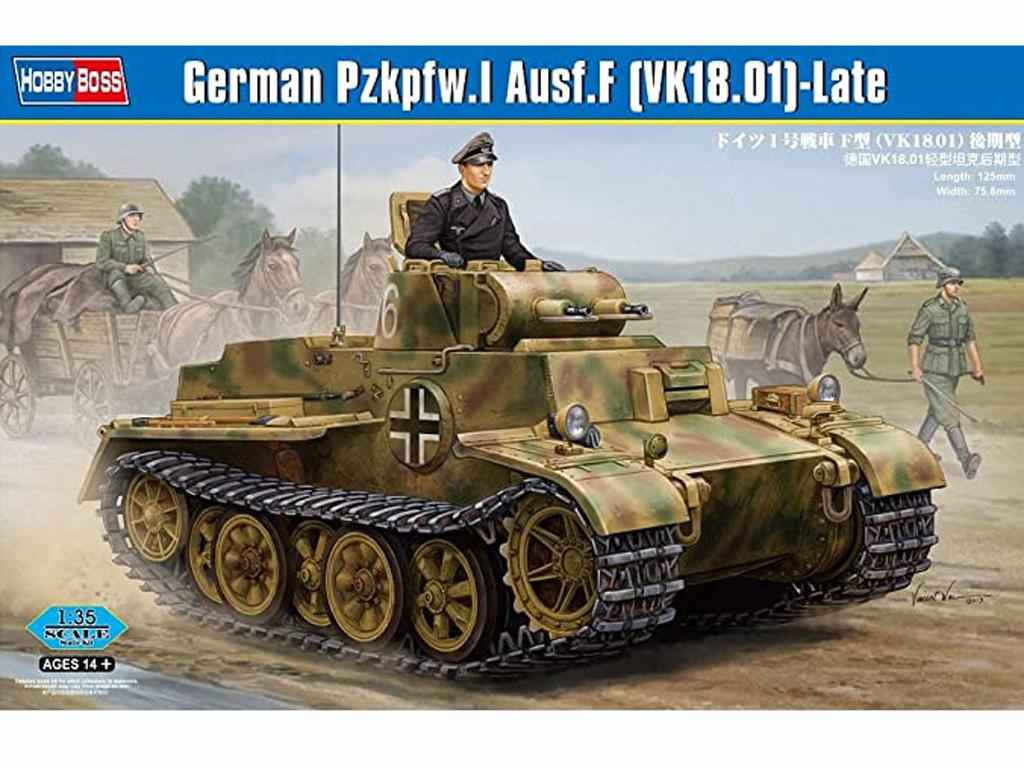 German Pzkpfw.I Ausf.F (VK1801)-Late