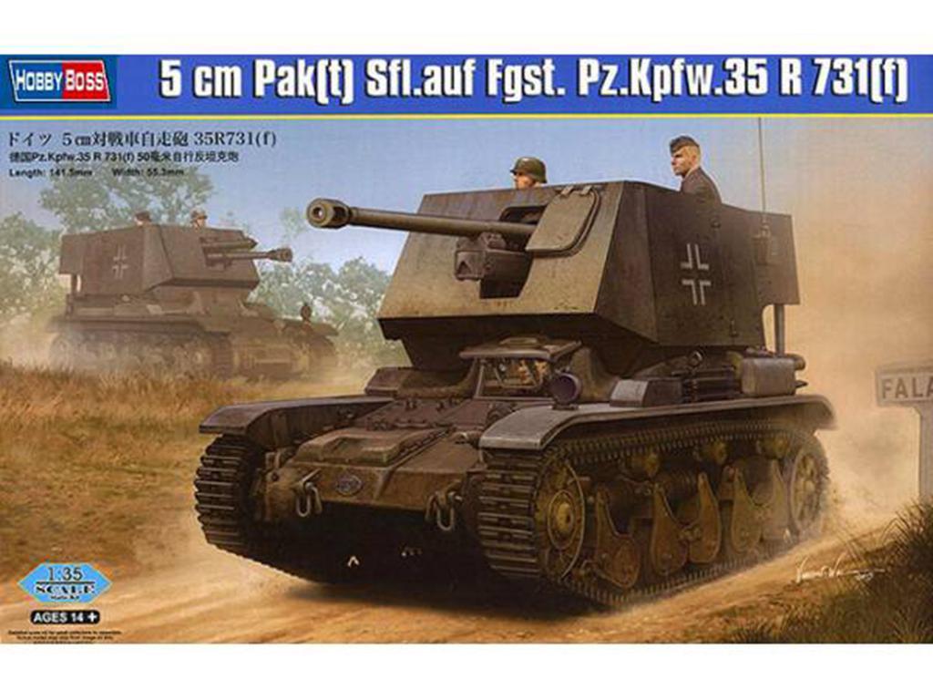 5cm Pak(t) Sfl.auf Fgst. Pz.Kpfw.35 R 73  (Vista 1)