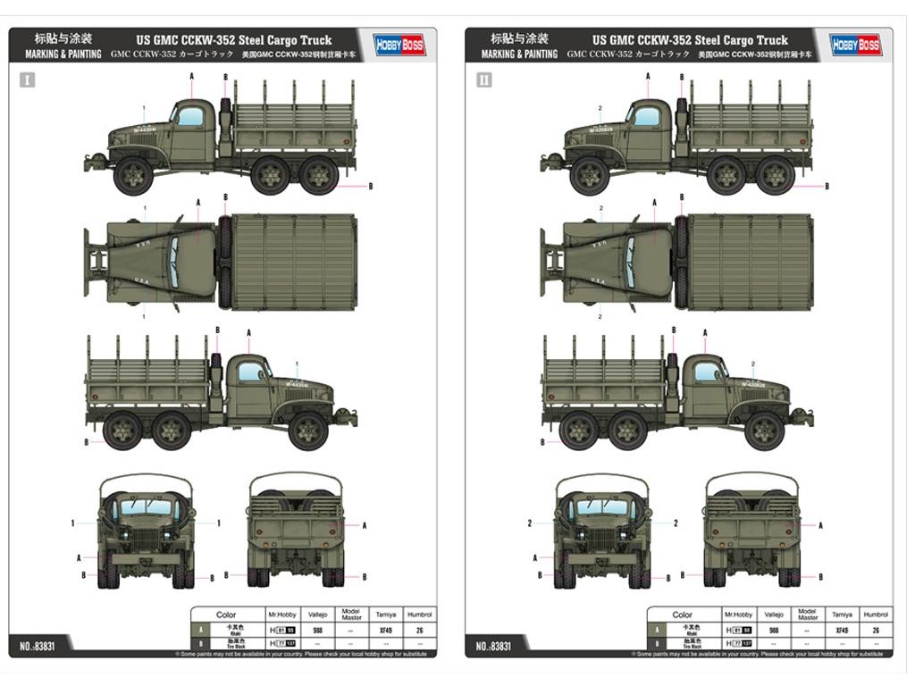 US GMC CCKW-352 Steel Cargo Truck  (Vista 2)