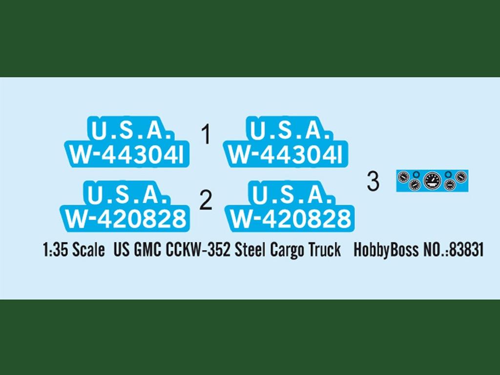 US GMC CCKW-352 Steel Cargo Truck  (Vista 3)