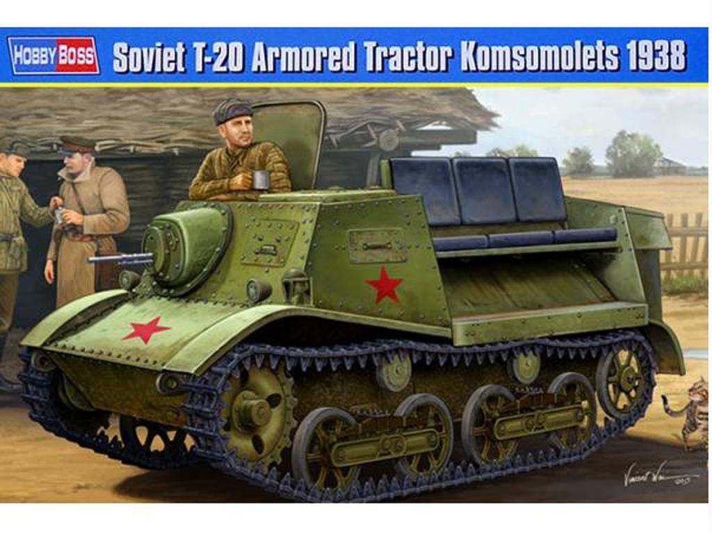 Tractor ruso T-20 Komsomolets 1938  (Vista 1)