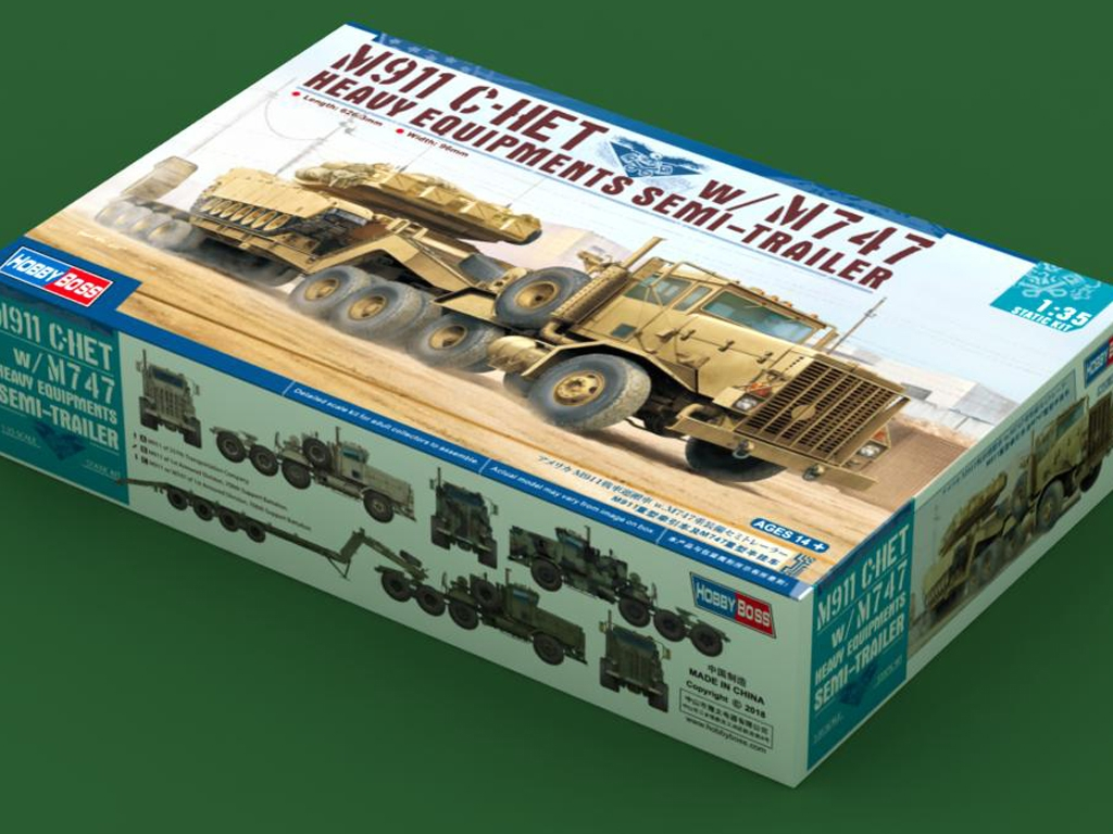 M911 C-HET w/m747 Heavy Equipment Semi-T - Ref.: HBOS-85519