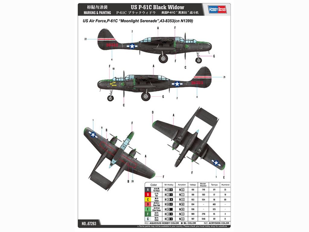 P-61C Black Widow  (Vista 2)