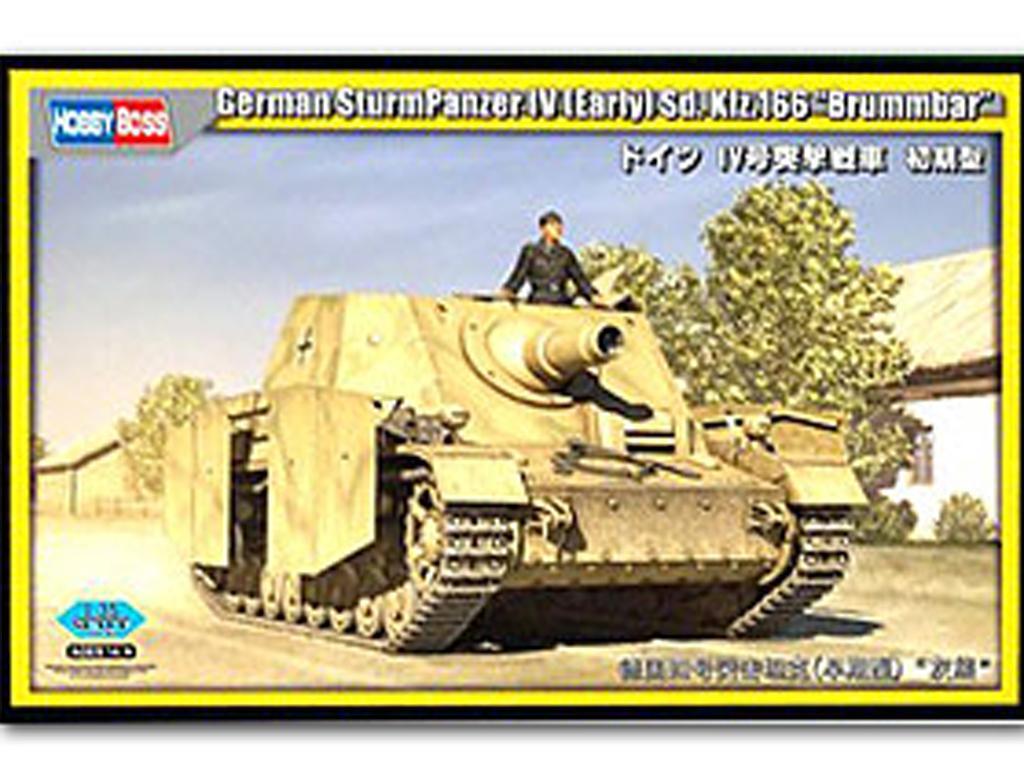 SturmPanzer IV inicial Sd.Kfz.166 Brummbär (Vista 1)