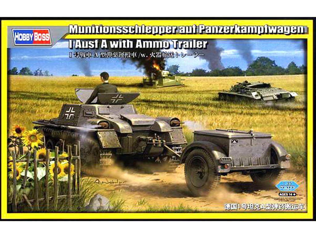 Panzer I A de amunicionamiento con remolque (Vista 1)