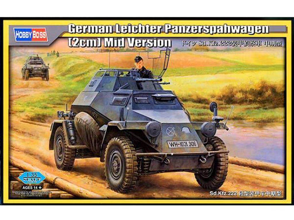 Sd.Kfz.222 con Cañón 2cm Versión Media (Vista 1)
