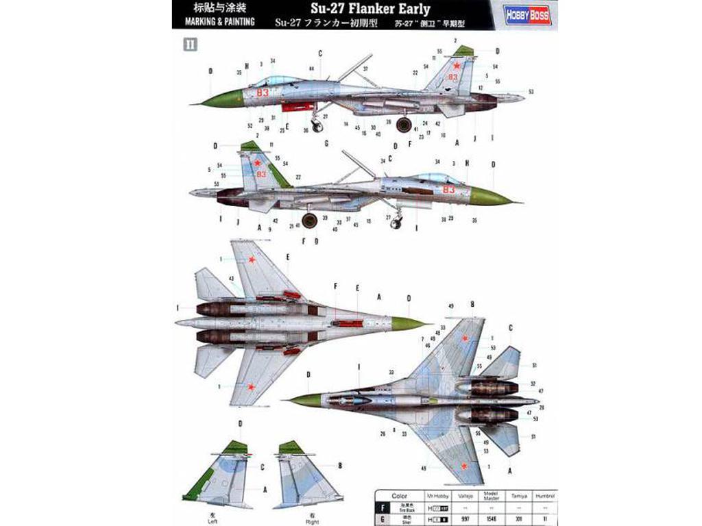 Su-27 Flanker inicial (Vista 4)