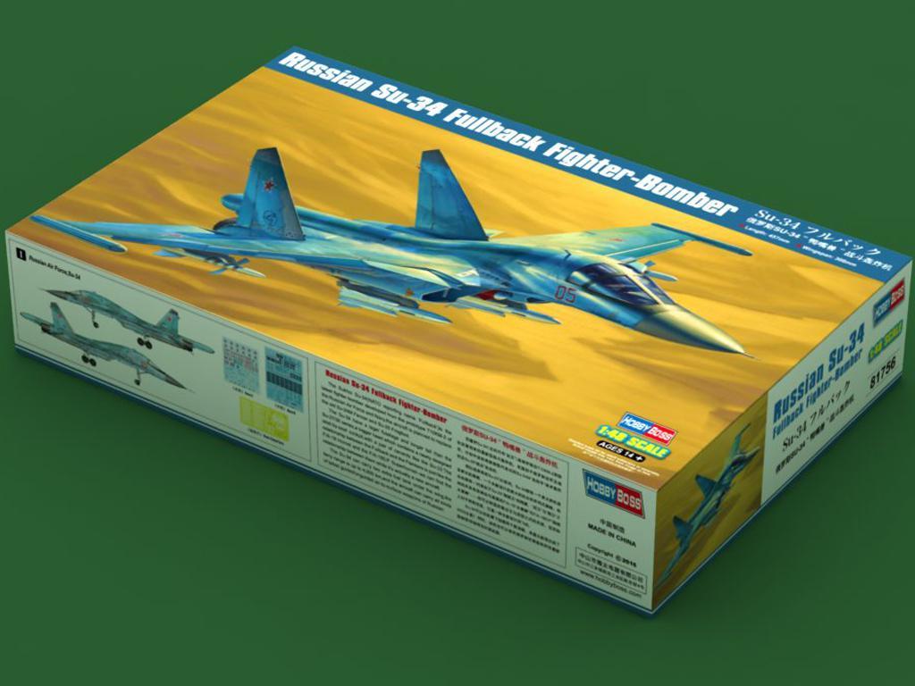 Russian Su-34 Fullback Fighter-Bomber (Vista 1)