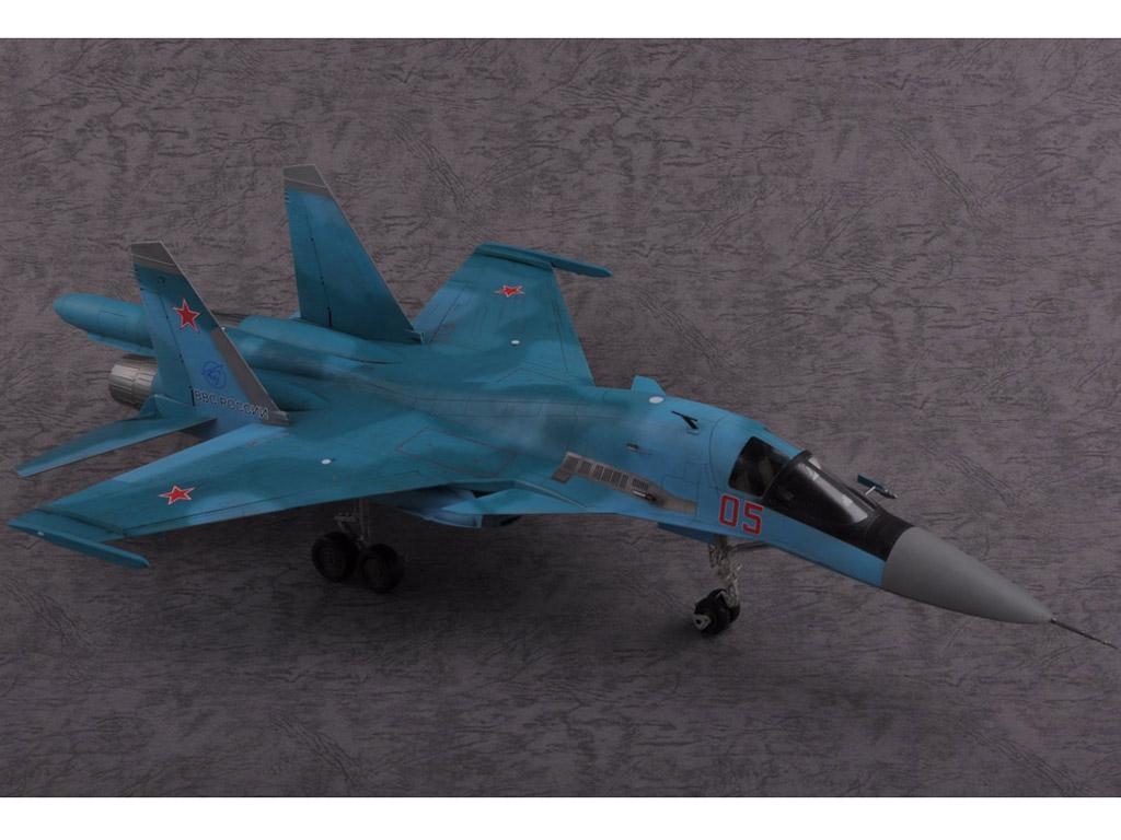 Russian Su-34 Fullback Fighter-Bomber (Vista 7)