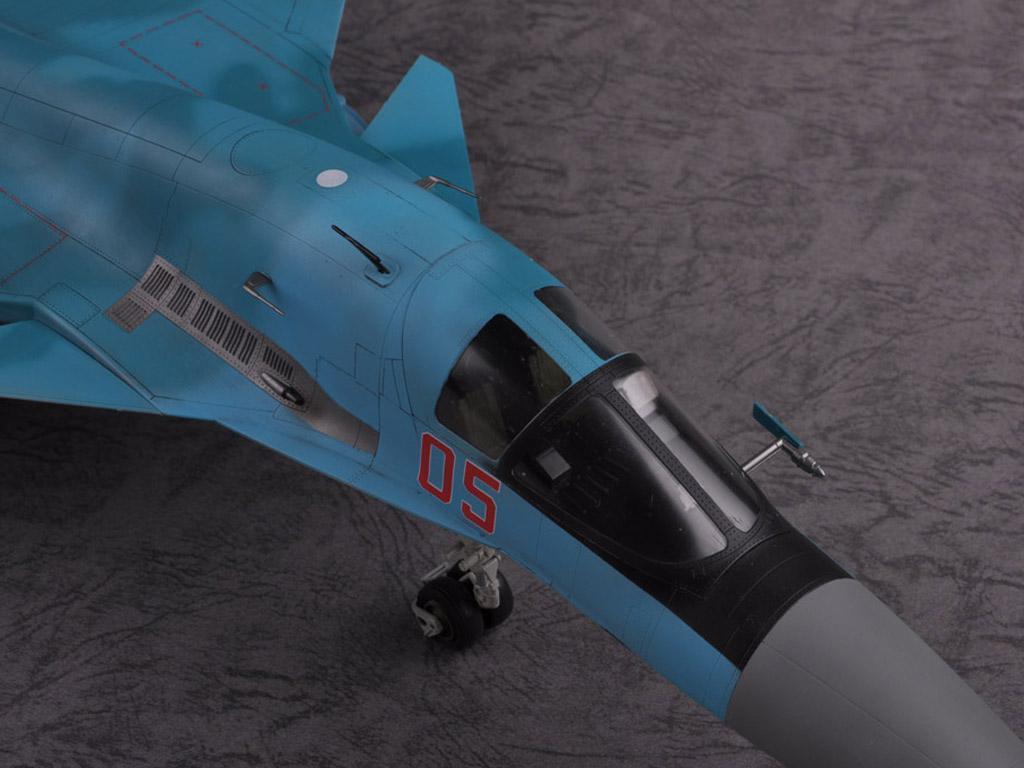 Russian Su-34 Fullback Fighter-Bomber (Vista 8)