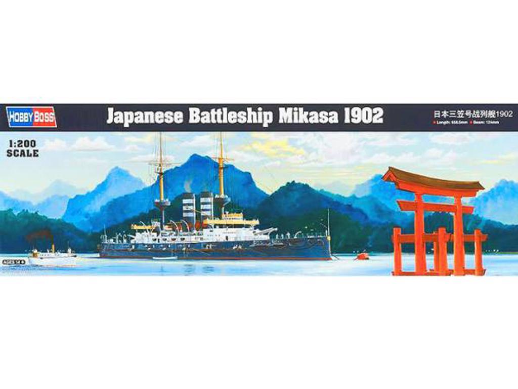 Acorazado japonés Mikasa 1902 (Vista 1)