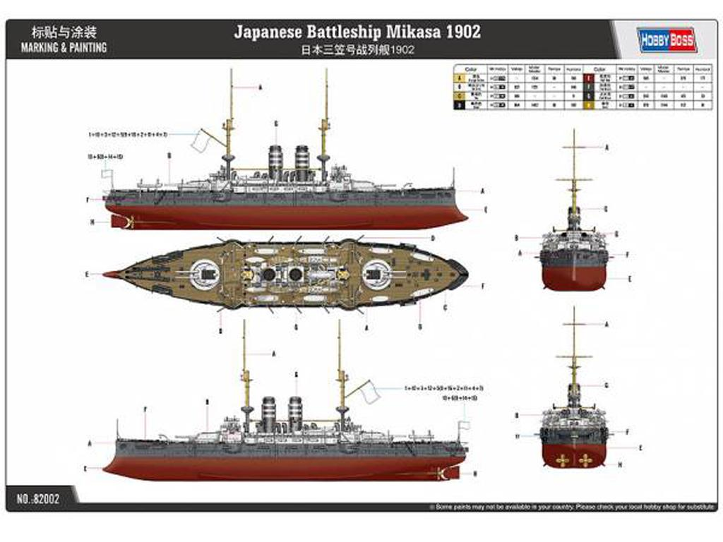 Acorazado japonés Mikasa 1902 (Vista 3)