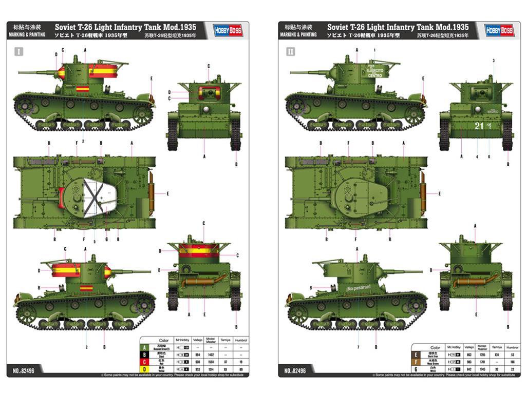 Soviet T-26 Light Infantry Tank Mod.1935 (Vista 3)