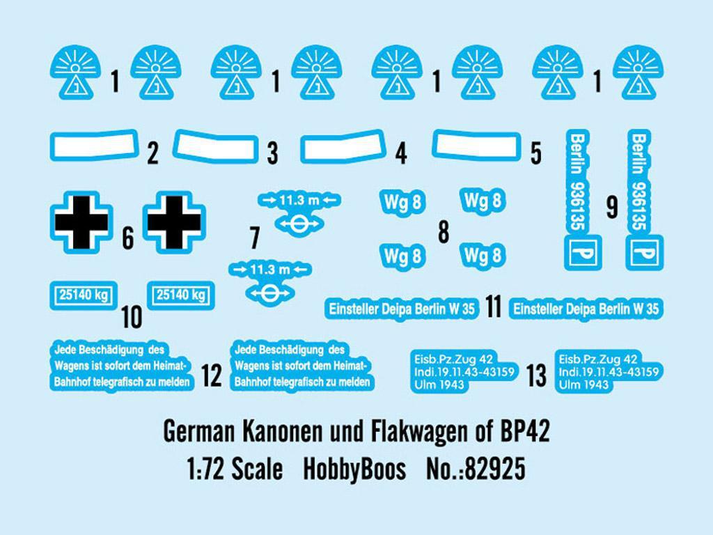 German Kanonen und Flakwagen of BP42 (Vista 2)