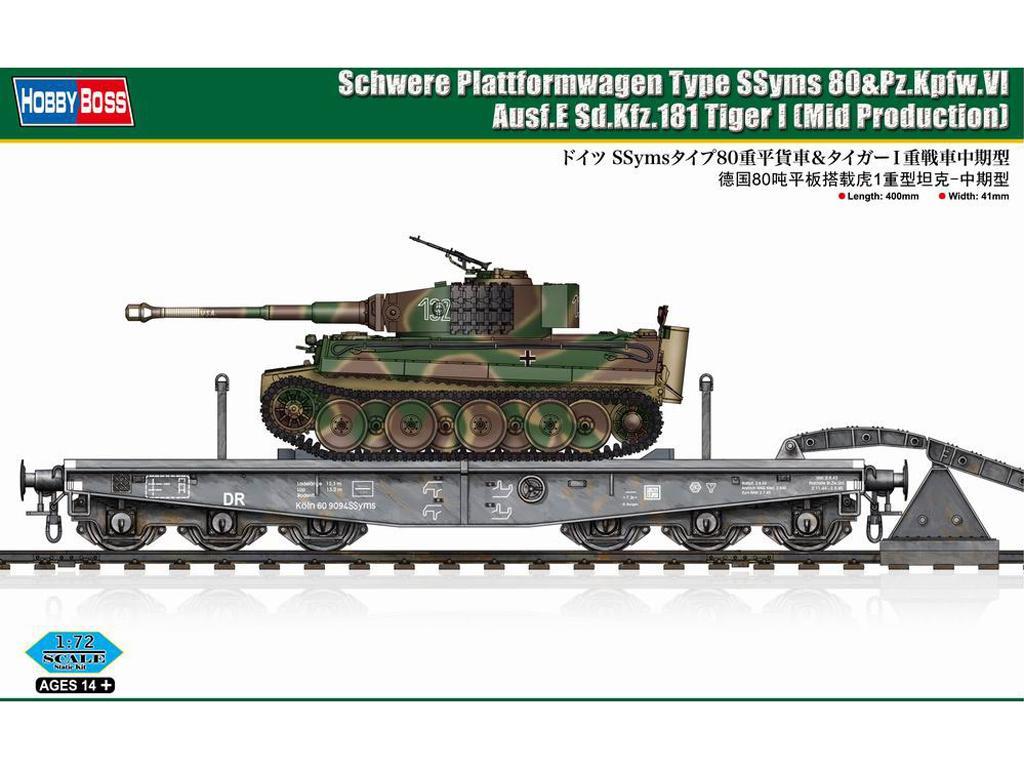 Schwere Plattformwagen Type SSyms 80&Pz.Kpfw.VI Ausf.E Sd.Kfz.181 Tiger I (Vista 1)