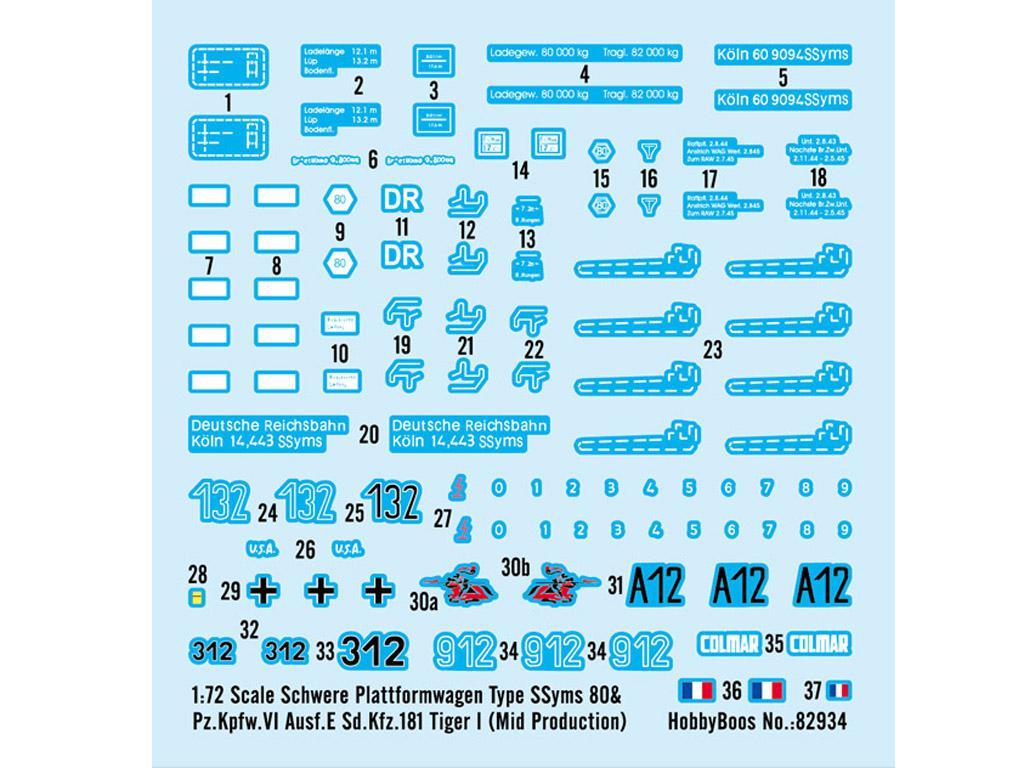 Schwere Plattformwagen Type SSyms 80&Pz.Kpfw.VI Ausf.E Sd.Kfz.181 Tiger I (Vista 2)