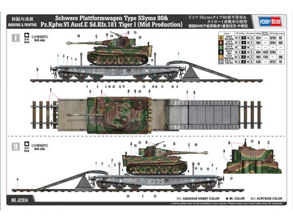 Schwere Plattformwagen Type SSyms 80&Pz.Kpfw.VI Ausf.E Sd.Kfz.181 Tiger I (Vista 3)